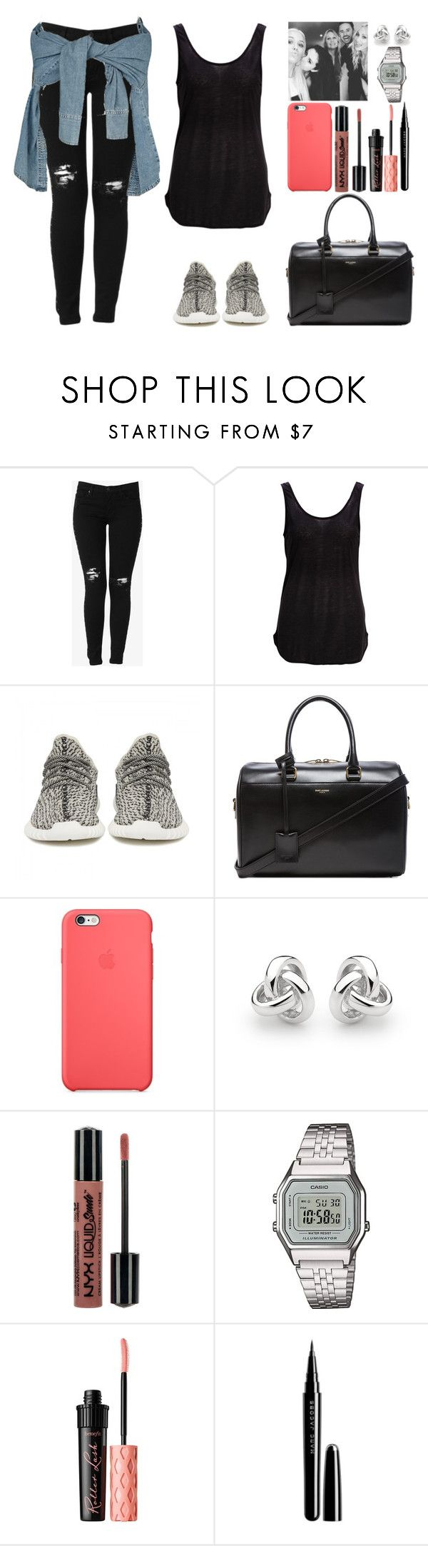 """D.636 (Selfie with Lottie, Helene, Paul and Lou)"" by dudapamphiro02 ❤ liked on Polyvore featuring Hudson Jeans, SELECTED, adidas Originals, Yves Saint Laurent, Black Apple, Georgini, Casio, Benefit and Marc Jacobs"