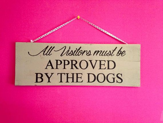 Welcome Plaque Sign  All Visitors Must Be by KimballKreations