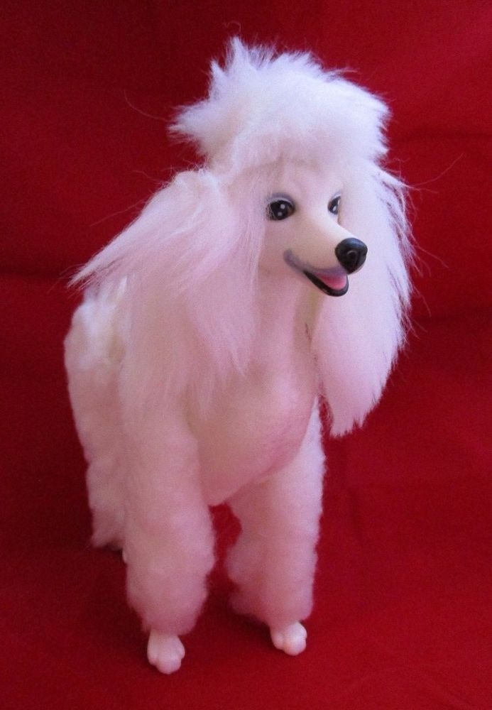 Vintage 1984 Mattel Barbie Dog Prince French Poodle Jointed Plush Dog Free Ship Mattel
