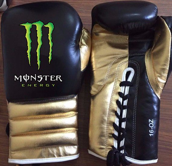 New Mexican Style Monster Energy Boxing Gloves Winning