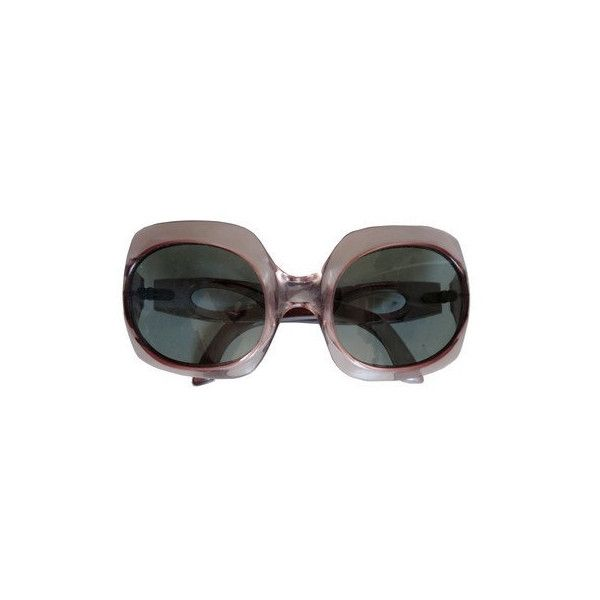 70's Round Sunglasses Oversized Sunglasses 1970s Sunglasses (€55) ❤ liked on Polyvore featuring accessories, eyewear, sunglasses, dark glasses, plastic sunglasses, oversized glasses, oversized eyewear and oversized sunglasses