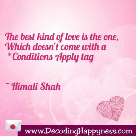 Conditions Apply : Unconditional love
