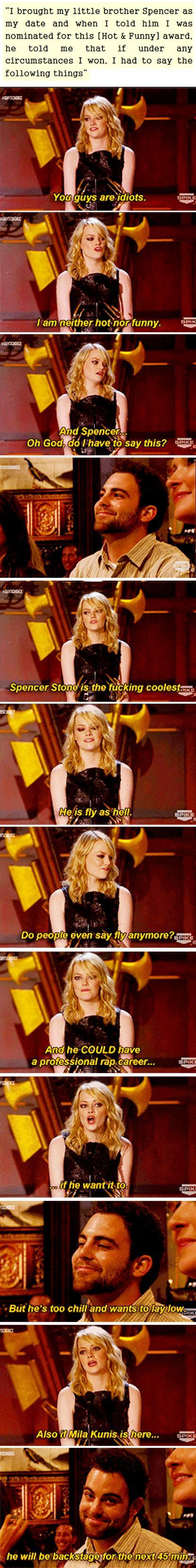 Emma Stone is the best sister ever