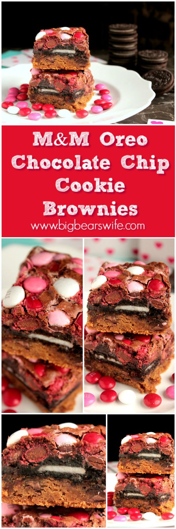 OREO Chocolate Chip Cookie Brownies are Oreo stuffed brownies baked ...