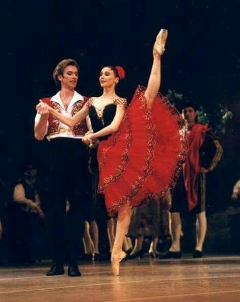 """<<Svetlana Zakharova and Andrei Uvarov in """"Don Quixote"""", Bolshoi Ballet>>"""