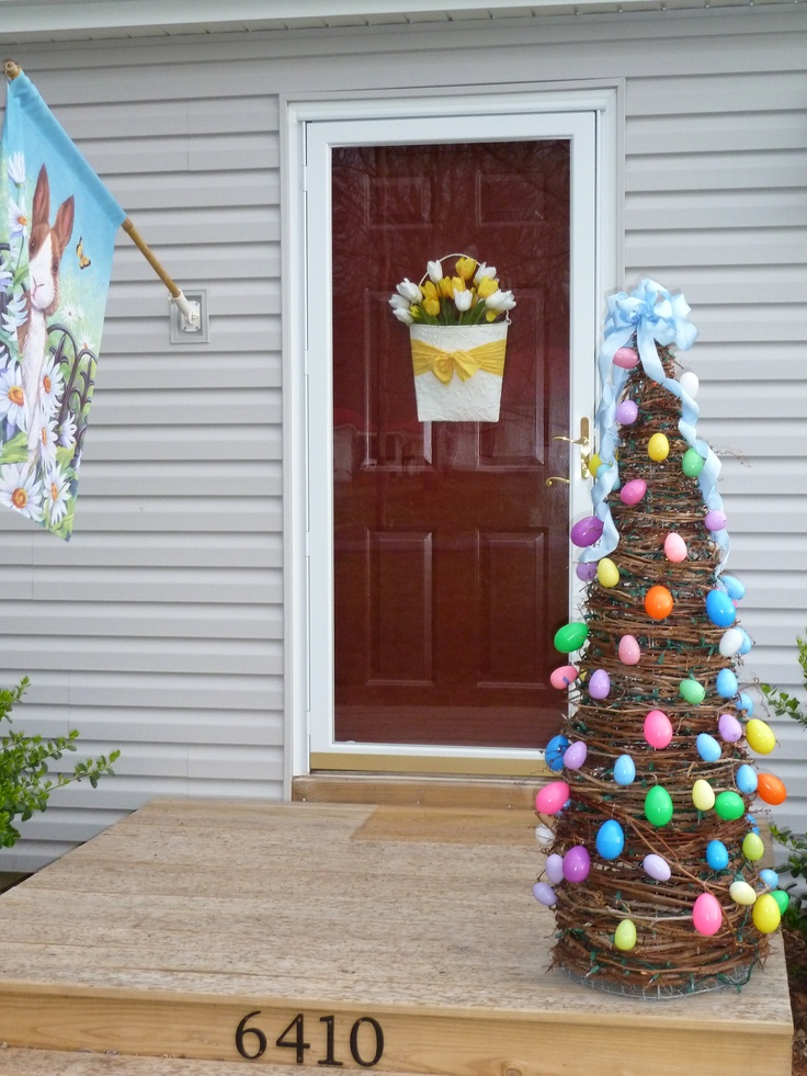 The Easter Bunny can't miss our house now!!