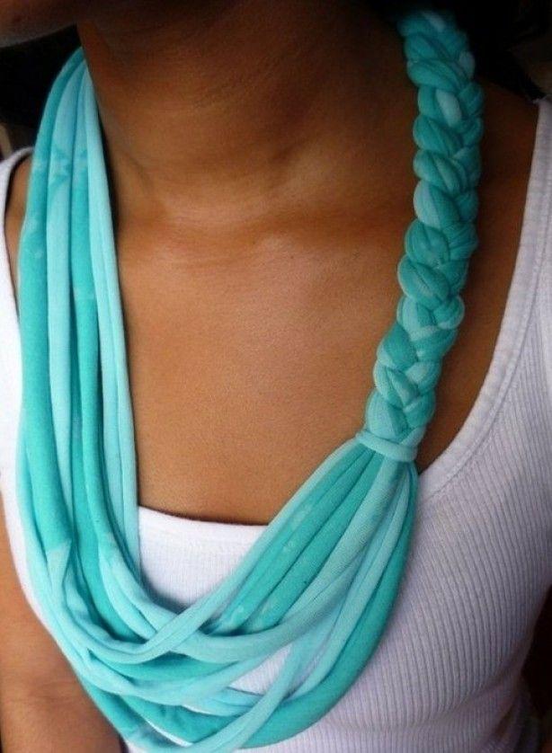 Zelf sjaal maken van een oud t-shirt