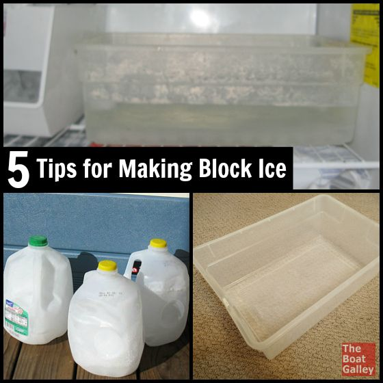 5 Tips for Block Ice - Okay, we all know the basics of how to make ice — put water in a container and stick it in the freezer. But making block ice is a little different ...