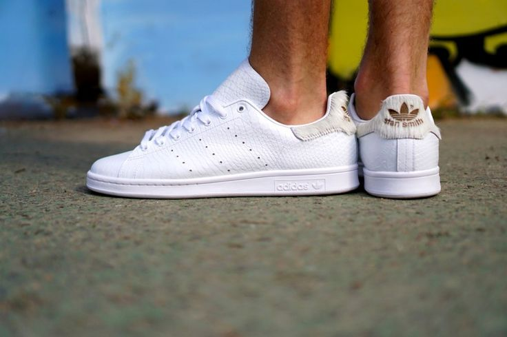 Adidas Stan Smith White Gold Silver