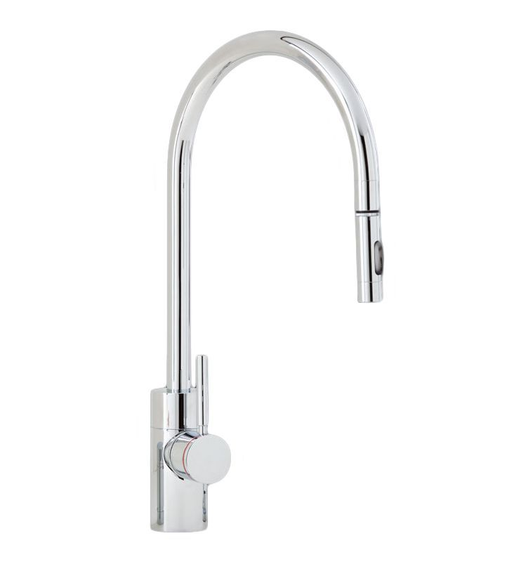 Waterstone 5400 Contemporary Kitchen Faucet Single Handle with Pull Out Spray Chrome Faucet Kitchen Single Handle