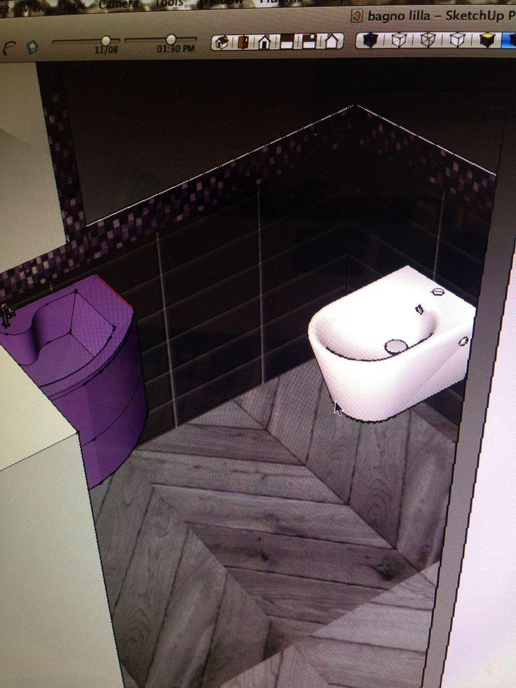 Project_bagno lilla e grigio