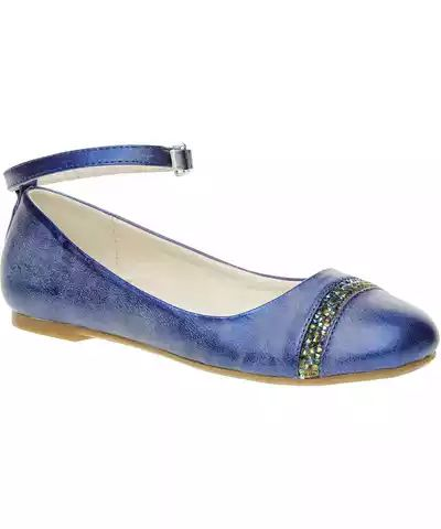 MINI B Modré baleríny s páskem