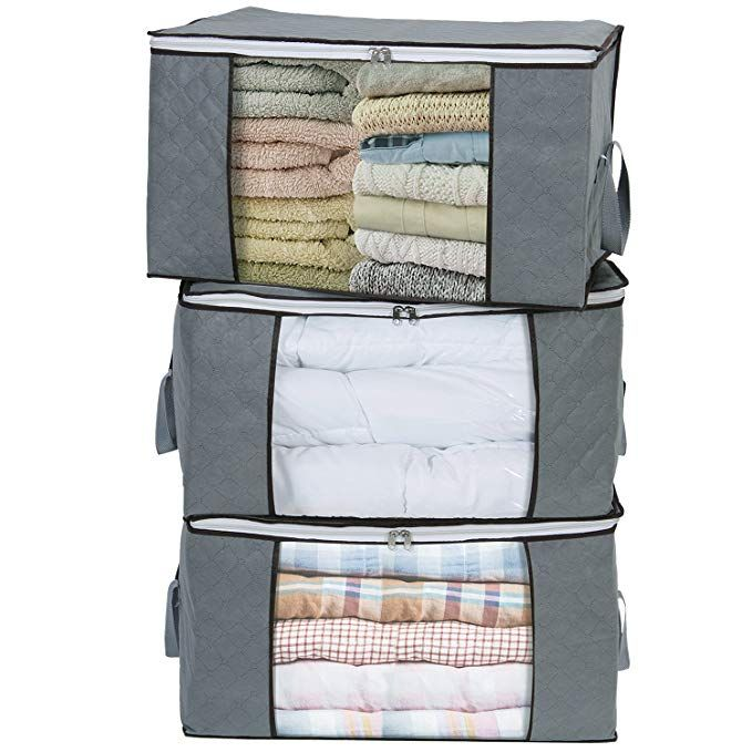 Lifewit Large Clothes Storage Bag Comforters Blankets Bedding