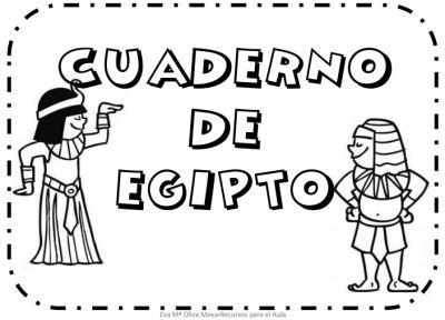 Cuaderno para trabajar egipto aprendemos coloreando