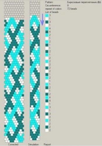 Crochet rope - 8 around - pattern. #Seed #Bead #Tutorials 3 colors