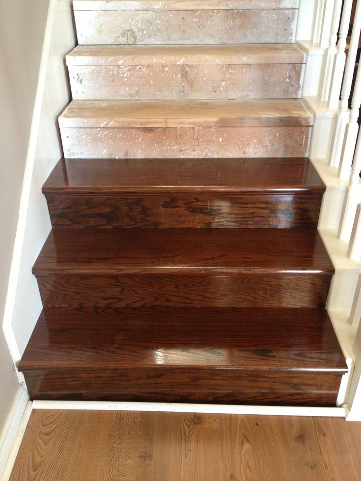 Oak Wood Stains ~ First steps done using retrotreads stained with a mix