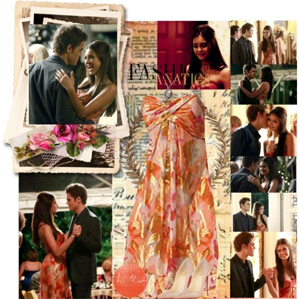 TVD~Elena Gilbert~1x04~Family Ties by tvshowobsessed on Polyvore featuring polyvore, fashion, style, Nicole Miller, Christian Louboutin, Bliss Studio, Della, Episode, Nisan and Paul Frank