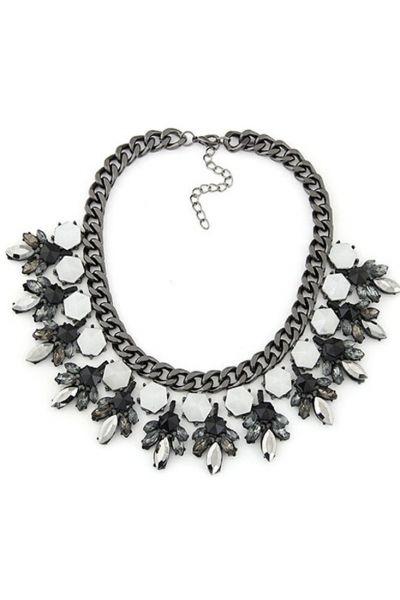 Boho Faux Stone Floral Choker Necklace - OASAP.com
