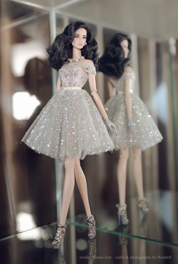 https://flic.kr/p/KX5LSu   Dania Zarr - outfit by Rimdoll   www.etsy.com/listing/457821334/silver-dress-for-fashion-r...