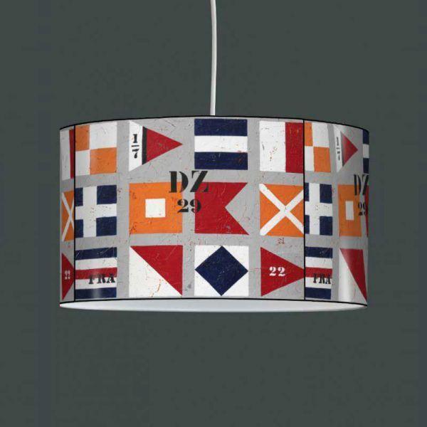 Luminaire à suspendre drapeaux nautiques                                                                                                                                                                                 Plus