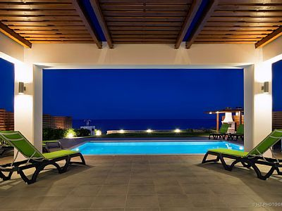 Notia Rodos ferievilla - Antonoglou Beach Villas, Rhodos Luksus stranden Villa med privat pool
