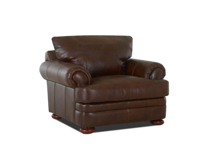 High Quality Klaussner Living Room Montezuma Chair With Leather C   Klaussner Home  Furnishings   Asheboro, North Carolina