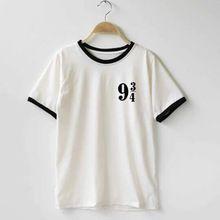 Women Platform 9 3 4 Harry Potter t shirt Cotton O-Neck Tees Shirts t-shirt Funny Custom t-shirts(China (Mainland))