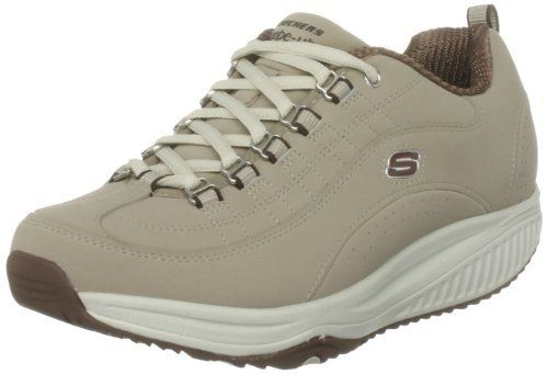Skechers Women's Shape Ups XF - Energy Blast Lace-Up Fashion Sneaker (1000000000064763039) Style Number: 12321 Leather Upper Rubber Sole Mimics Walking Barefoot Padded Tongue And Collar For Comfort