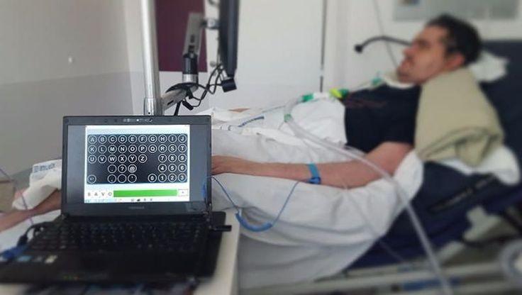 INTERVIEW - Depuis quelques mois, Damien Perrier, paralysé par la maladie de Charcot, expérimente une interface cerveau-machine pour communiquer. Un projet unique en France.