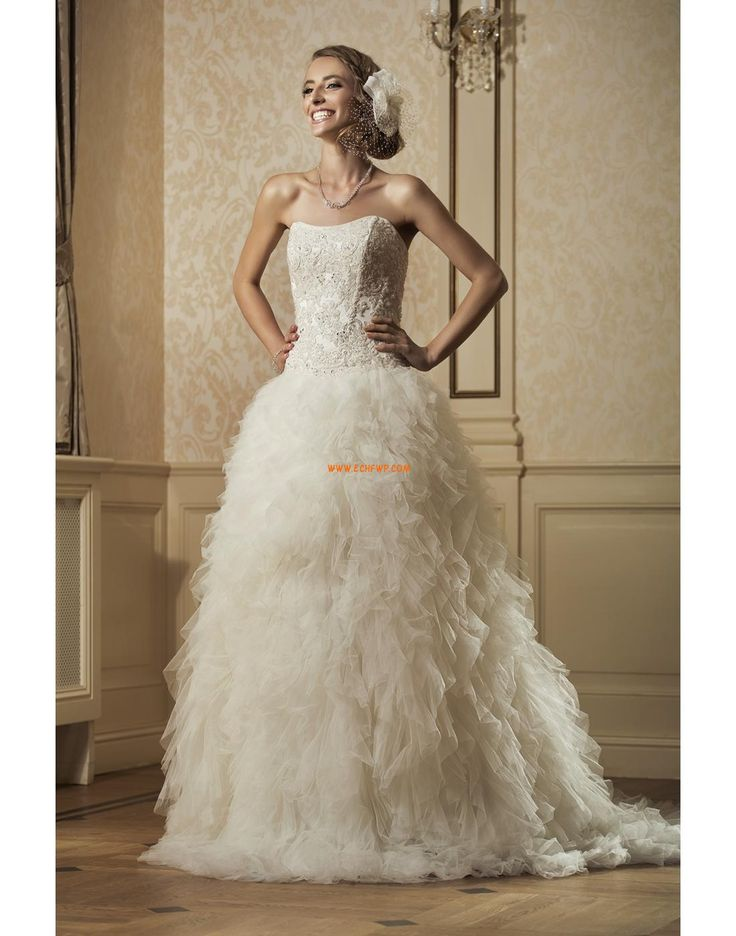 Princesové Elegantní & moderní Šněrování Svatební šaty 2014