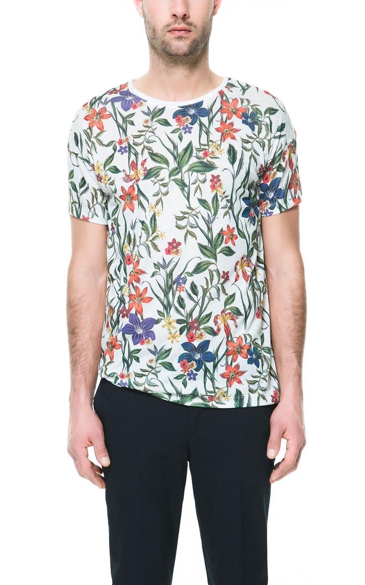 Floral t shirt t shirts man zara singapore mens for Zara mens floral shirt