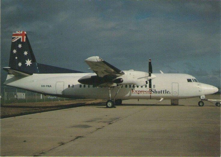 Ansett Australia, Express Shuttle Fokker-50 Postcard