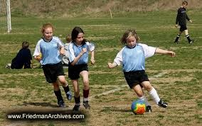 Image result for children girls playing football