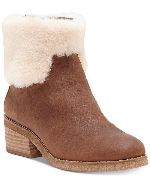 ef27175b9e46cd Lucky Brand Women s Tarina Boots - Brown 7.5M