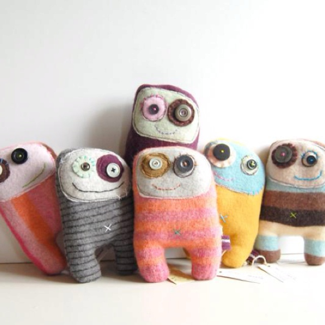 Happy Monster Dolls --