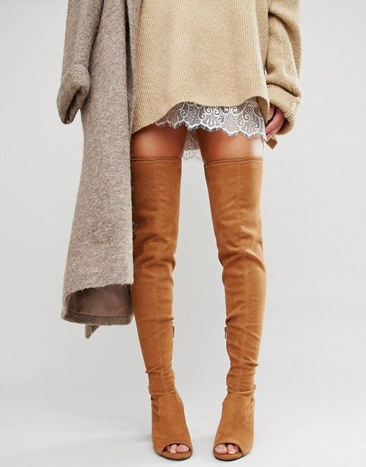 ASOS | ASOS KASTOR Over The Knee Peep Toe Boots