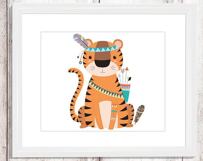 Tiger wall art - Tiger nursery art - kids wall art - Nursery Decor - tribal tiger - tribal nursery art - tribal wall decor - tribal tiger