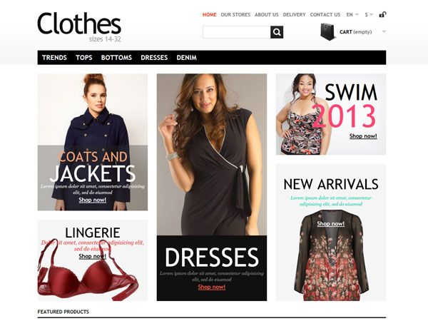 Clothes Bootstrap PrestaShop Template