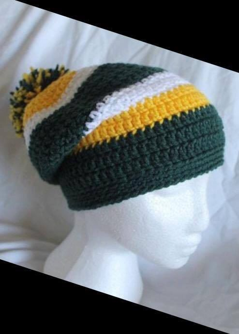 Crocheted Green Bay Packers hat  beanie by CrochetedByKristina