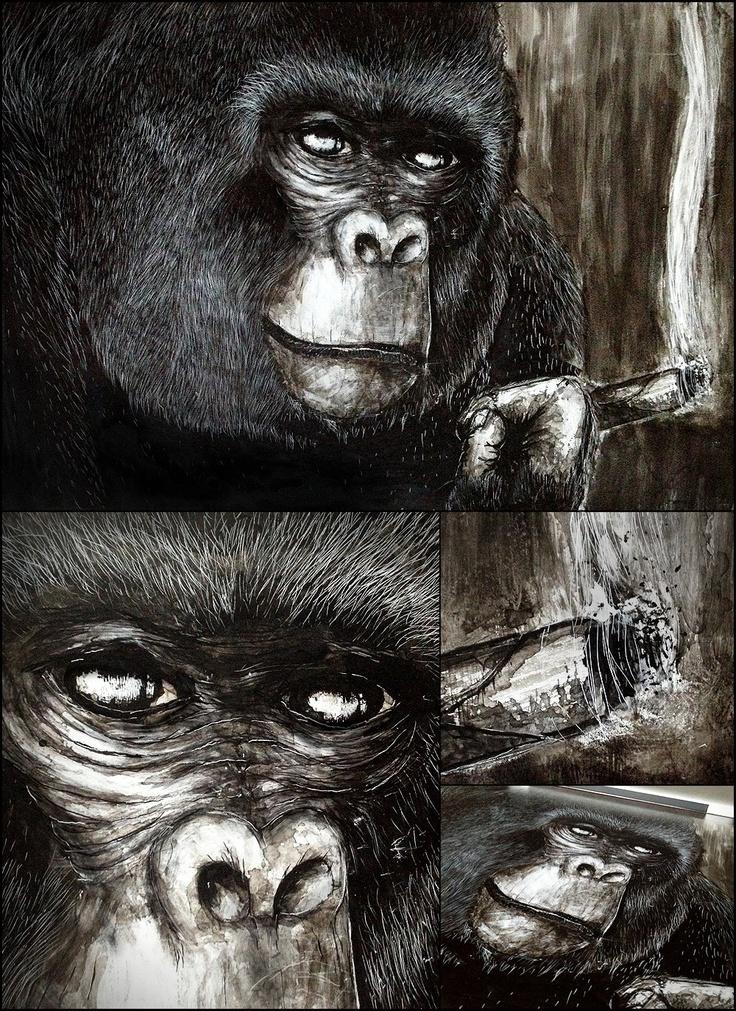 Proudest monkey #monkey #gorilla #ink #illustration