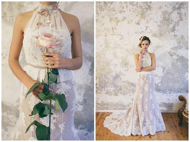 fräuleinliebe Hochzeitskleid mit Neckholder