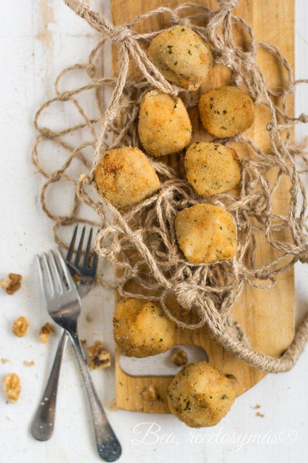 Croquetas de gorgonzola, manzana y nueces
