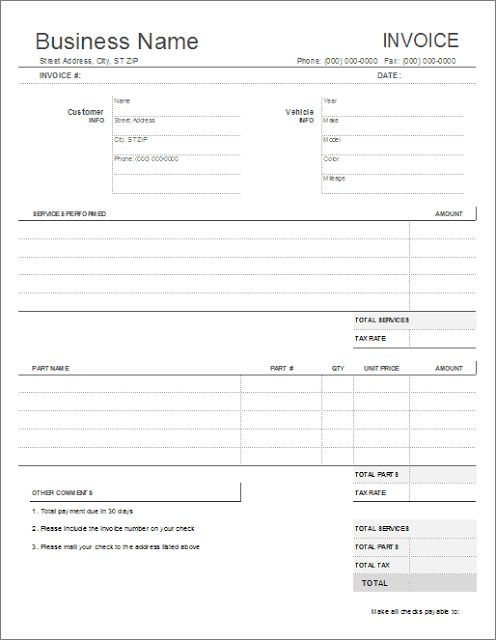 Service Quotation Templates Free