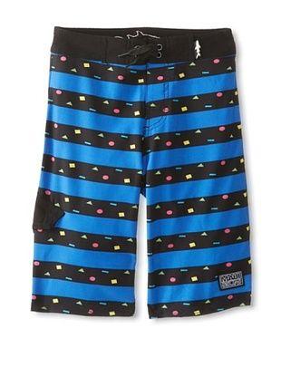 68% OFF Maui & Sons Boy's Cookie Stripe Board Shorts (Blue)