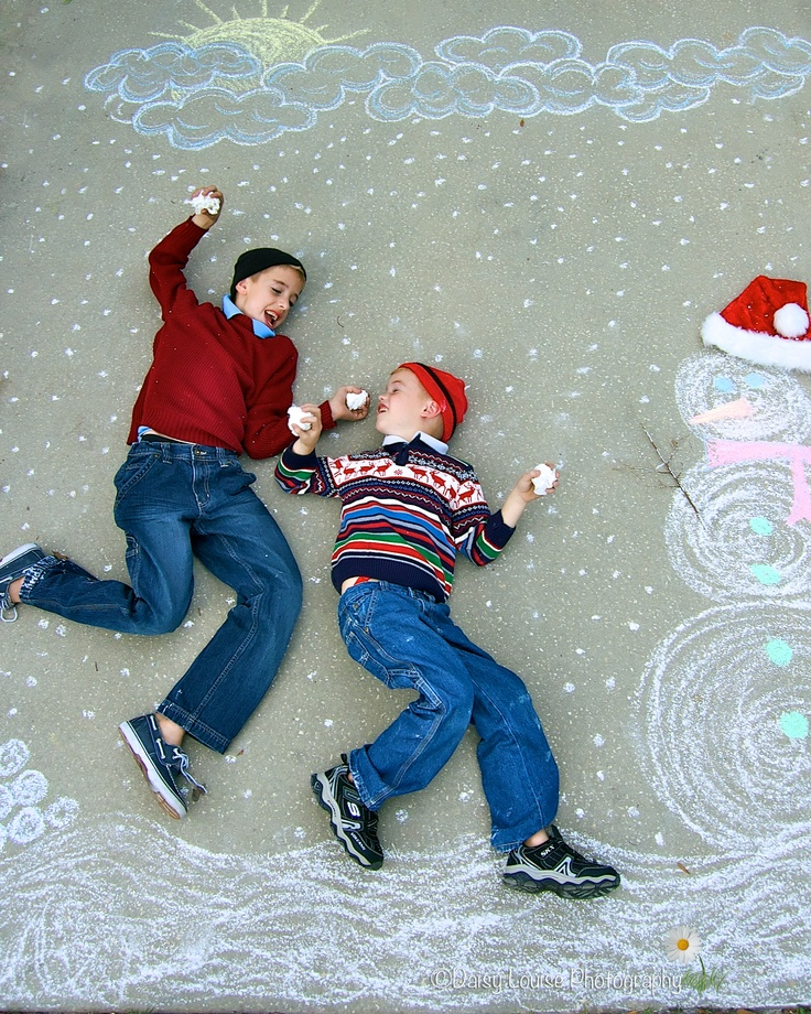 Christmas card idea...getting creative with chalk