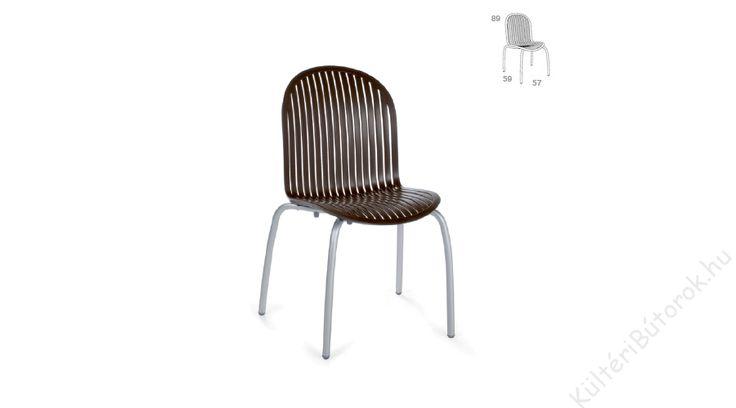 Télen-Nyáron a Ninfea szék várjon! :)  Design kerti szék UV álló polipropilénből Fehér - antracit szürke - kávé barna színekben Rakásolható Tartós, időjárásálló és stílusos Eloxált alumínium vagy festett fehér, csúszásgátlóval ellátott lábak Négyféle színkombinációba kapható Könnyen tisztítható Méretek: 57x59x89 cm Súly: 4,6 kg