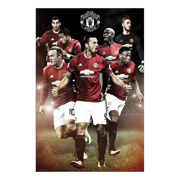 Manchester United 2016 / 2017 Players Poster | iPosters