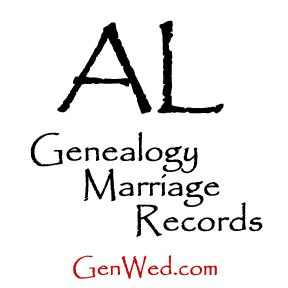 Alabama Genealogy Marriage Records at GenWed, databases and directory.