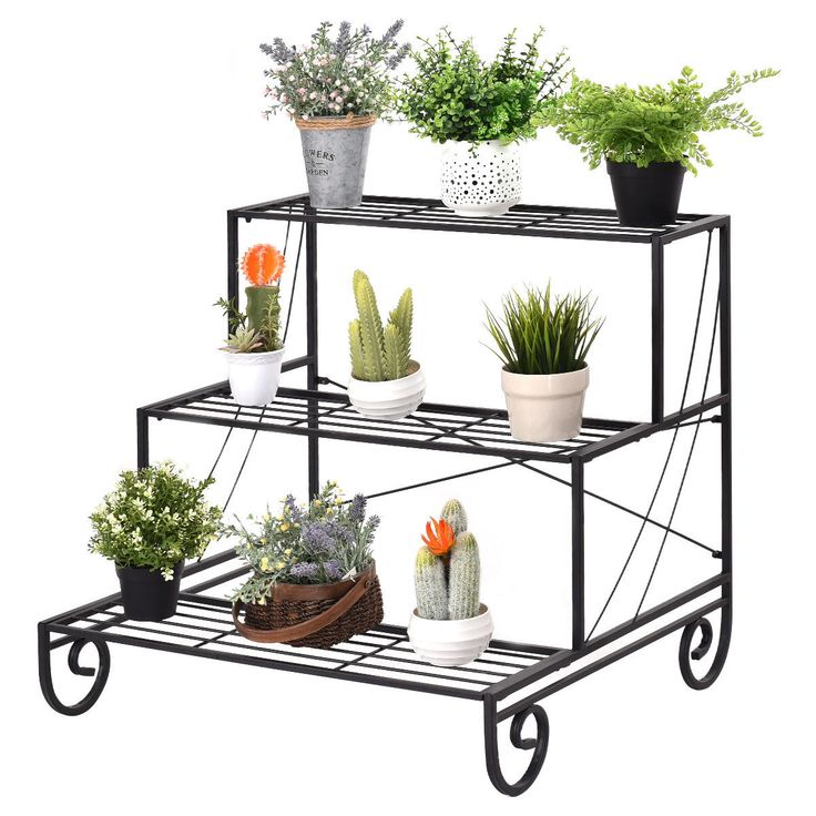 outdoor flower box stands
