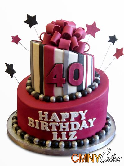 14 best images about liz 40th birthday party on pinterest for 40th birthday cake decoration